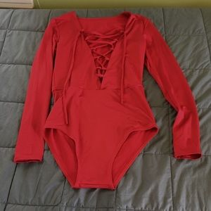 Other - Red Bodysuit size S